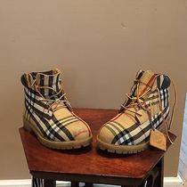 Custom Timberland Burberry Boots Size 5m Photo