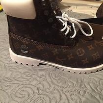 Customized Louis Vuitton Timberlands Photo