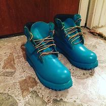 Customized Turquoise Timberlands I Designed Them Photo
