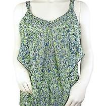 Cut25 by Yigal Azrouel Lime Green/navy Print Tank Top Shirt Blouse Sz 4. Nwt Photo