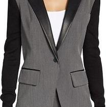 Cut25 by Yigal Azrouel Meglange Grey & Black Blazer sz.4 Photo
