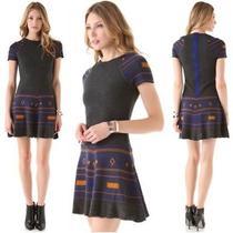 Cut25 Yigal Azrouel Wool Power Knit Sweater Grey Dress S Nwot Photo