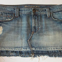 Cute Abercrombie & Fitch Distressed Jeans Denim Jean Short Skirt Womens Size 8  Photo