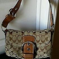 Cute and Classy Coach Signature Khaki Shoulder Bag  Photo