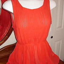 Cute Anthropologie Top - Sunset Red  Photo