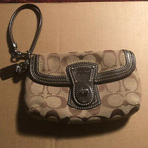 Cute Coach Wristlet Brown With Coach Logo Authentic Photo