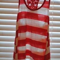 Cute - Coral and White Sleeveless Mossimo Supply Shirt Size Xs - Cute Photo
