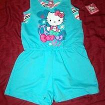 Cute Cute Cute  Hello Kitty Blue Romper Jumper  Girl Size 10 12 New Photo