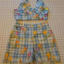 Cute Cute Escada Retro Plaid Shorts (10) and Halter Top (12) Photo