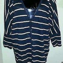 Cute Cute Joie Nautical Striped Drapey Linen Knit Cardigan L Photo