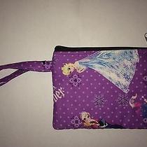 Cute Disney's Frozen Handmade Wristlet. Purple. Anna Elsa. Sisters Forever Photo