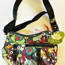 Cute Floral New Lily Bloom Hobo Bag W/shoulder Strap & Tag (Similar to Oilily) Photo