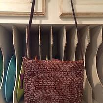 Cute Fossil Brown Basket Woven Straw Shoulder Bag/purse Photo