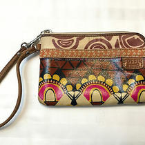 Cutefossil Key Per Zip Around Leather & Waxed Canvas Wallet Wristlet Photo
