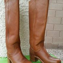 Cute Fryebrown Leather Boots Women's Sz 6 B Photo