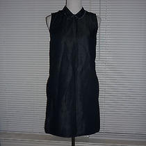 Cute Gap Shift Dress Collar Dark Blue Denim Work Career Pockets Cotton Sz Xs Photo