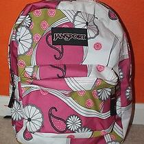 Cute Girls Jansport Backpack Pink White Green Funky Fun Design  Photo