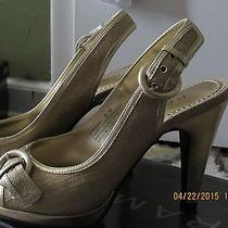 Cute Gold Peeptoe Heels Photo