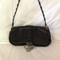 Cute Guess Black Leather Shoulder Bag Purseexc Condhobo Style Braid Design  Photo