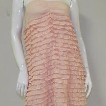 Cute J. Crew Collection Blush Pink Strapless Tube Tiered Ruffle Sundress Sz S Photo