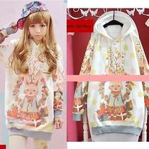 Cute Kawaii Colorful Lolita Cartoon Fantasy Lady Gaga Barbie Rabbit Hoodie Shirt Photo