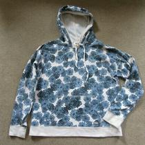 Cute Ladies Element Eden Blue Floral Hoodie Pullover Sweatshirt Size X-Large Xl Photo