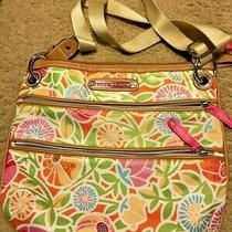 Cute Lily Bloom Messenger Shoulder Bag Purse Euc Photo