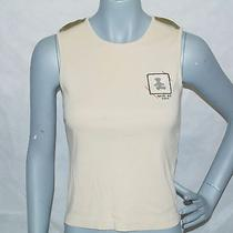 Cute Lulu Castagnette Beige Tank Top Made in Italy Size 10 Photo