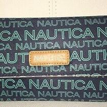 Cute Nautica Deep Sea Dive Navy Blue Money Manager Trifold Wallet Rfid Billfold Photo