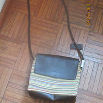 Cute Relic by Fossil Multi-Color Stripe Fabric Shoulder/ Crossbody Bag Photo