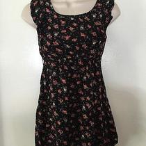 Cute Roxy Girl Colorful Floral Printed Ruffled Sleeveless Empire Top Size Small Photo