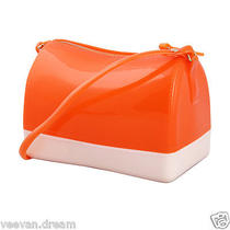 Cute Small Jelly Candy Handbag Shoulder Bag Women Ladies Messenger Hobo Orange Photo