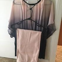 Cute Spring/summer Blush Colored Pants and Shirt Set With a Necklace Added In Photo
