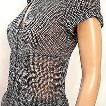 Cute the Limited See-Through Button Up Cap Sleeve Shirt/top Size Small (T-437) Photo