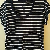 Cute Trendy Gap Top White and Black Strips Size Xl Photo