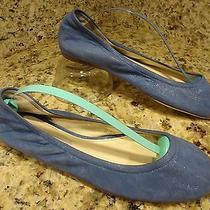 Cute Vera Wang Lavender Women Shoes 6.5 M Sparkling Blue Leather  Flats Photo