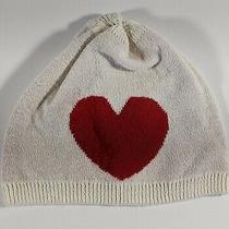 Cute White Beanie With Heart. Baby Gap 0-3 Months Photo