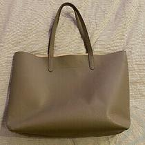 Cuyana Large Structured Tote Stone Grey/blush Excellent Used Photo