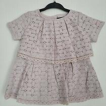 Cynthia Rowley Baby Girl Blush Lace Dress Sz 12 Months Photo