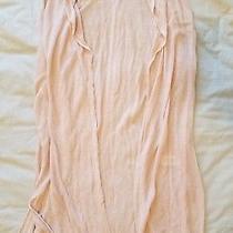 Cynthia Rowley Blush Linen Knit Sleeveless Long Open Cardigan Sweater Vest Sz 1x Photo