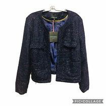 Cynthia Rowley Career Blazer Jacket Soft Baby Pink Blush Rose 3/4 Sleeve Size Xl Photo