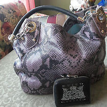 Cynthia Rowley Snake Embossed Leather Hobo in Lavender -Juicy Couture Wallet Photo