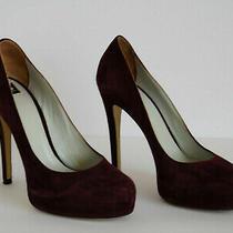 d&g by Dolce & Gabbana - Women  Classic Burgundy Suede Heels  Size 38 Photo