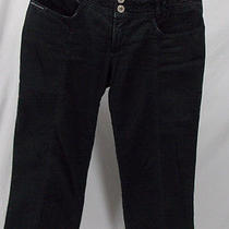 d&g Dolce Gabbana Distressed Capris Cropped Denim Black Jeans Sz 26 40 Us 4 Photo