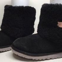 D Girls Ugg Australia Winter Suede Black Boots Size 4 Photo