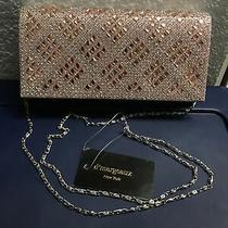 d'margeaux  Rose Gold Glitter Evening Clutch Photo