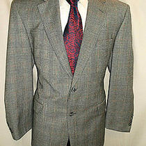 D23 44r Lambs Wool Brooks Blazer Sport Coat Jacket Mens 25