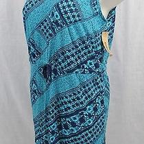 D6 Pleasing Drawstring Waist Dkny Jeans Womans 22 / 24w Dress 100% Cotton Photo