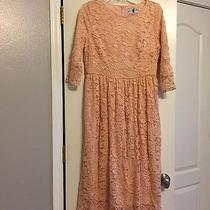 Dainty Jewell's Blush Lace Dress Size Large Photo