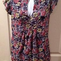 Daisy and Clover Mesh Flowered Top Size Large Photo